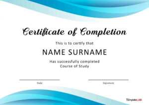 40 Fantastic Certificate Of Completion Templates [Word regarding Training Certificate Template Word Format