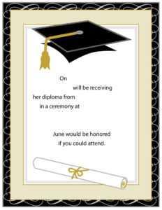 Graduation Template Word - Dalep.midnightpig.co in Graduation Invitation Templates Microsoft Word