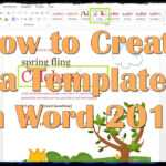 How To Create A Template In Word 2013 throughout Creating Word Templates 2013