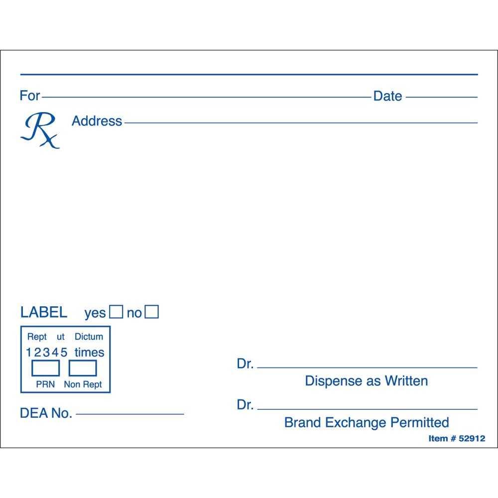 Prescription Label Template Microsoft Word - Calep Regarding Doctors Prescription Template Word