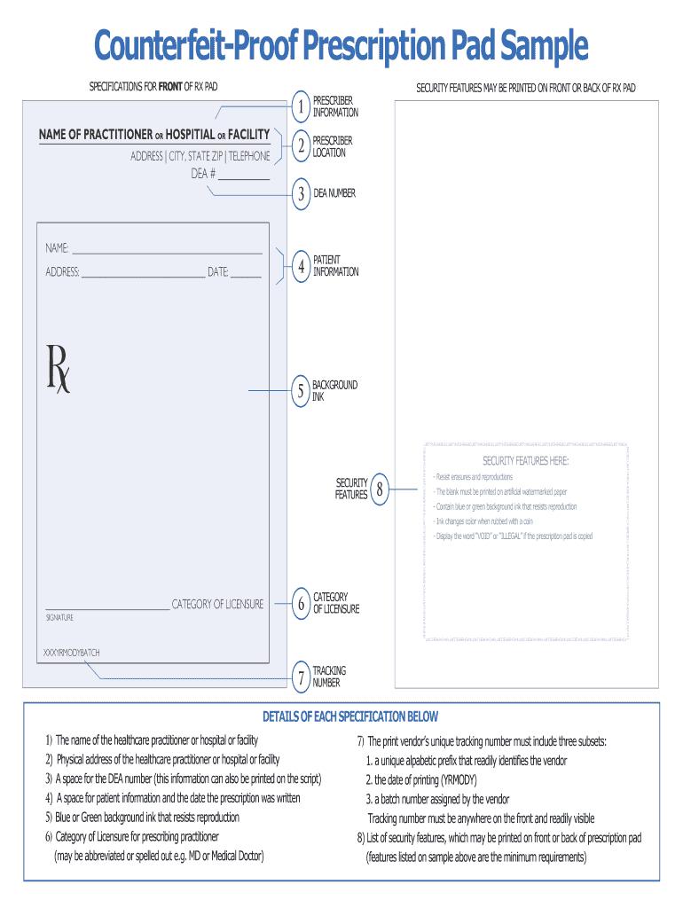 Prescription Pad Template - Fill Online, Printable, Fillable In Doctors Prescription Template Word
