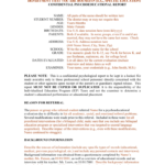 Template For A Bilingual Psychoeducational Report with Psychoeducational Report Template